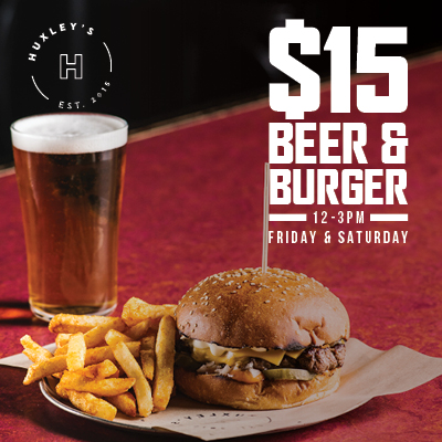 $15 Beer & Burger